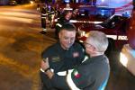 La splendida sorpresa dei pompieri al caporeparto che va in pensione