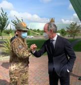 Il generale Figliuolo in visita ai centri vaccinali veneti