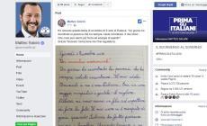 """Tancredi, 9 anni, scrive a Salvini: """"Sei il mio mito"""""""