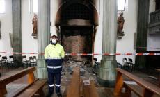 Il 9 luglio riarpre la chiesa, dopo l'incendio