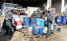 Una discarica abusiva da 1500 tonnellate