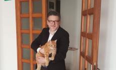 Il gatto Rossini, oggi, ha fatto un salto a Palazzo Nodari