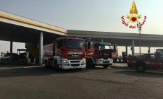 Perdita di gas nel distributore in autostrada