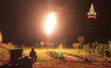 Maxi perdita di gas: pompieri all'opera tutta la notte