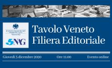 """""""Tavolo veneto della filiera editoriale"""", l'evento online"""