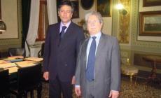 Il commissario Claudio Ventrice  <br/> ha accolto il comandante Tesoro