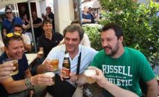 Matteo Salvini ancora in città <br/>al fianco di Massimo Bergamin