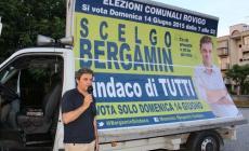 Bergamin in tour tra le frazioni <br/> il candidato punta sulla sicurezza