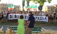 In corteo contro l'arrivo di profughi <br/> oltre 200 davanti a Corte Romana