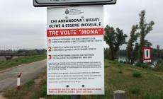 """Cartelli contro i soliti """"mona"""" <br/> il comune scoraggia gli incivili"""