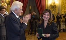 La professoressa Daniela Boscolo <br/> premiata dal presidente Mattarella