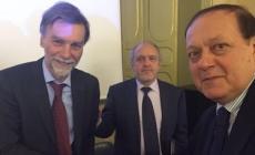 Chiarioni incontra il ministro Delrio  <br/> il ponte sul Po approda a Roma