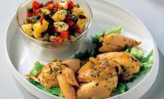 Fusi di pollo <br/> in agrodolce con verdure