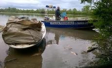Reti abusive e due quintali di pesce <br/> sequestrati dalla Polizia provinciale