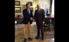 Il nuovo prefetto Caterino <br/> accolto dal sindaco Bergamin