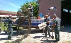 Pesca in acque vietate<br/> Sequestrate due reti in golena