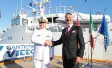 La nave Zarzis consegnata alla Marina tunisina nel porto di Albarella