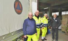 Protezione civile a Norcia per aiutare i terremotati