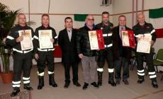 Riconoscimenti ai pompieri eroi