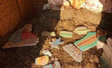 Distrutto il presepe dell'Aoeb in piazza dei Grani a Badia Polesine