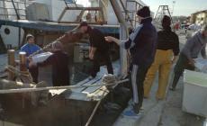 """La visita dell'amministrazione comunale ai pescatori di Pila """"esiliati"""""""