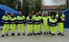Protezione civile al lavoro, esercitazione nel parco a Pincara