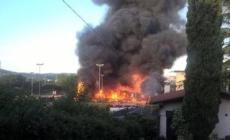 Mega-incendio a Verona, chiamati anche i Vigili del fuoco di Rovigo