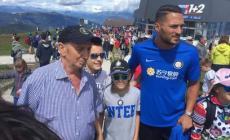 Umberto, tifoso speciale, accompagnato a conoscere i campioni dell'Inter