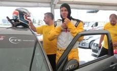 Jimmy Ghione pilota all'autodromo di Adria
