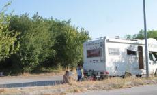 Campo nomadi in zona Interporto