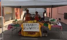 Al mercato i prodotti alimentari delle popolazioni terremotate