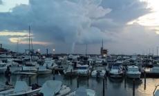 Tromba marina a largo di Albarella