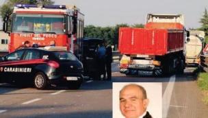 Il carabiniere morto in Transpolesana lascia due figli