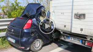 Incidente devastante. Transpolesana in tilt