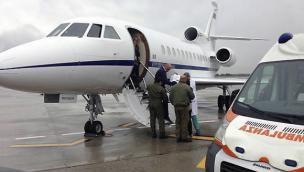 25enne in pericolo di vita, trasportata col Falcon a Verona