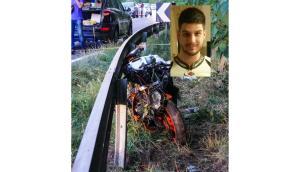Centauro 29enne esce di strada e muore contro il guard rail