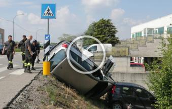 Devastante incidente in viale Porta Adige, tre miracolati