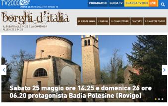 """Bellezze della città in tv grazie a """"Borghi d'Italia"""""""