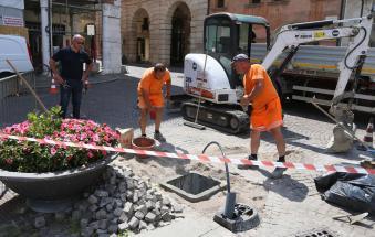 Lavori in corso: arriva la fontanella