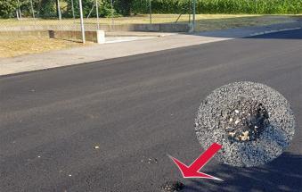 Via Maffei, appena asfaltata già con la buca. La risposta del Comune