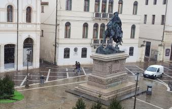 Sul Polesine è scesa la neve