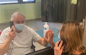 La buona notizia: adesso sono possibili le visite ai ricoverati del covid hospital!