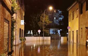Nubifragio, Ficarolo va sott'acqua