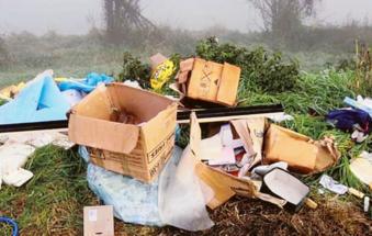 Beccato il furbetto dei rifiuti abbandonati