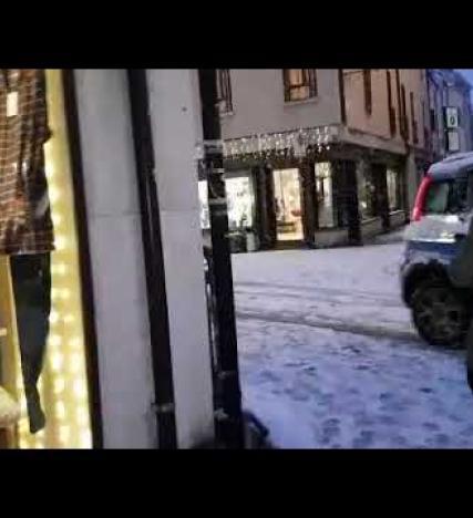 Tanta neve in centro a Rovigo