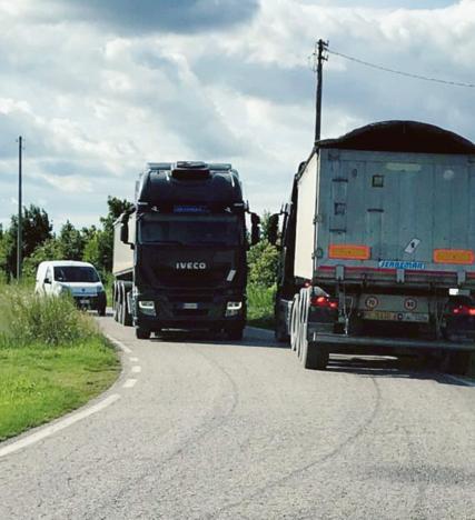 Traffico pesante, in via Boalto zero controlli