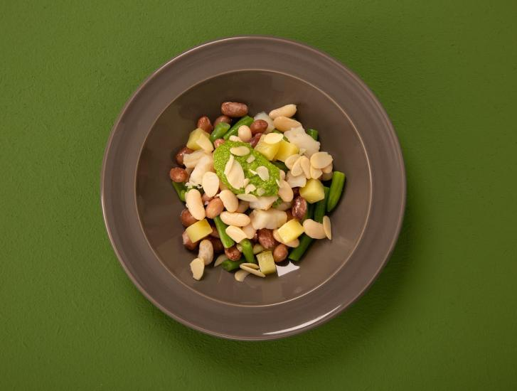 Insalata di baccalà e legumi