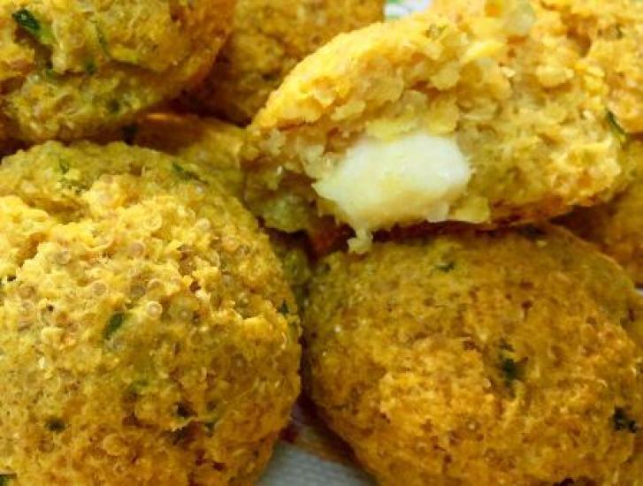 Quinoa, zucchine, stracchino polpette fritte e super golose