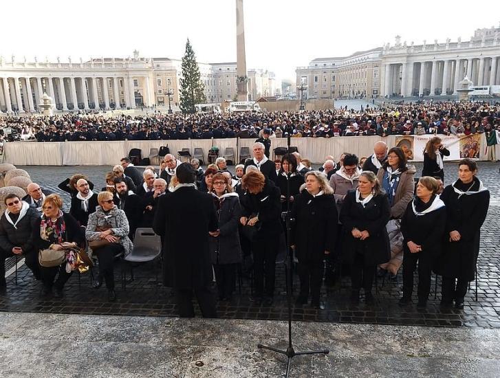 La Corale Adriese canta per il Papa