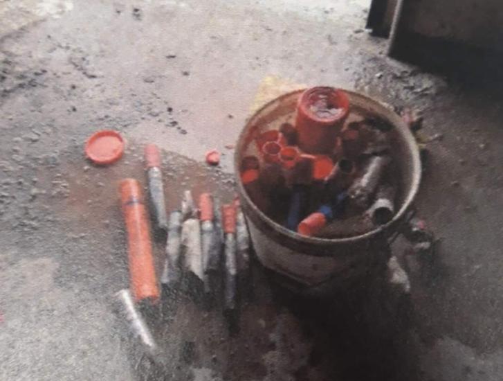 Incendio in discarica a causa dei razzi